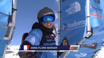 Run of Marxer Anne-Flore (FRA/SUI) - Swatch Freeride World Tour 2015 in Vallnord Arcalis (AND) By The North Face