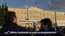 Manifestation à Athènes pour soutenir le gouvernement grec