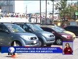 Importadores de vehículos usados en crisis por cobro de impuestos