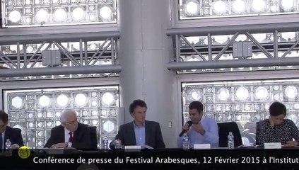 Conférence de presse Festival Arabesques à l'Institut du Monde Arabe