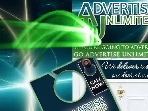 Advertise Unlimited Door Hanger Campaign