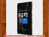Nokia Lumia 900 Smartphone GSM/EDGE/HSDPA Bluetooth Wifi GPS Windows Noir