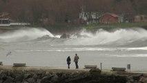14 Febrero temporal en costa del Cantábrico, Candás, Asturias