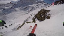 GoPro Run of Smoothy Sam (NZL) - Swatch Freeride World Tour 2015 in Vallnord Arcalis (AND) By The North Face