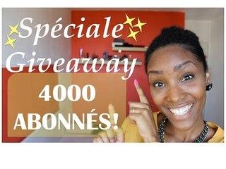 Spéciale GIVEAWAY / 4000 ABONNÉS !!