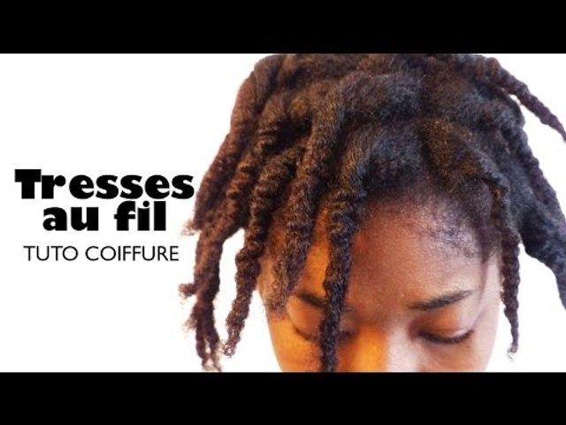 Tresses au fil sur cheveux crépus | Tuto coiffure