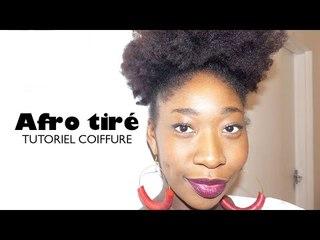 Afro tiré sur cheveux crépus | Tutoriel coiffure