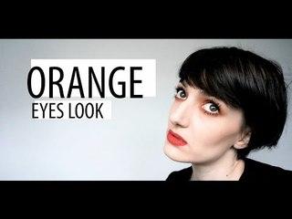 Orange Eyes Makeup Look