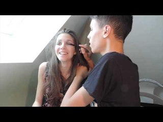 My boyfriend does my makeup | Fashioninyourdreams