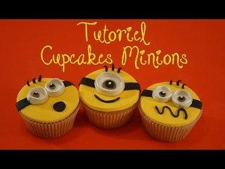 Cake design : Tutoriel cupcakes Minions pâte à sucre / Despicable Me