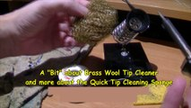 Cleaning soldering iron tips a Quick Tip Cleaning.