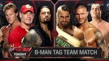 John Cena, Roman Reigns & Chris Jericho vs Randy Orton, Seth Rollins & Kane | Raw ESPAÑOL LATINO HD