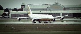 Royal Brunei   Airbus A340  Takeoff at Hamburg Finkenwerder (Hamburg plant of Airbus) Airport
