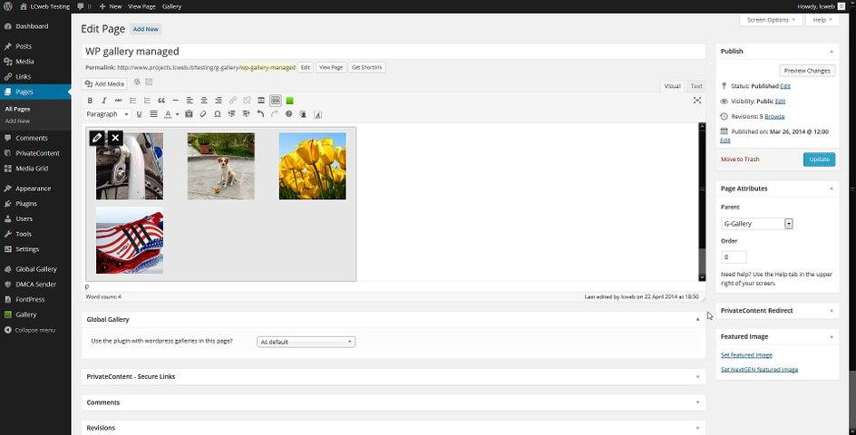 Global Gallery (10) - Wordpress galleries integration