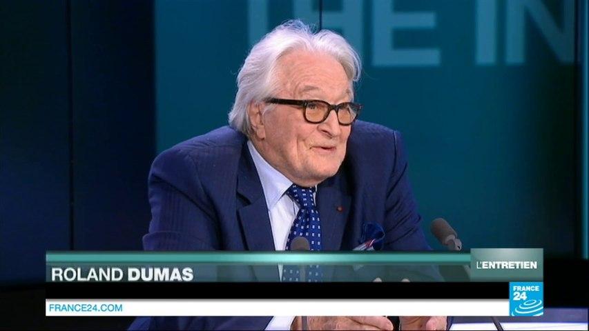 """Manuel Valls """"sous influence juive"""" : Roland Dumas persiste et signe sur France 24"""