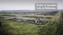 Le site d'Auschwitz-Birkenau en Pologne survolé par un drone