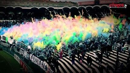 Girondins : un tifo coloré permettant de régler les couleurs de votre télé !