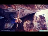 Michaela Tracy Climbs Ultra-Funky Cave Problem 'Dark Room' (8A/V11