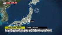Tremblement de terre et alerte tsunami au Japon