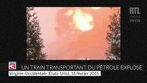 États-Unis : un train transportant du pétrole explose