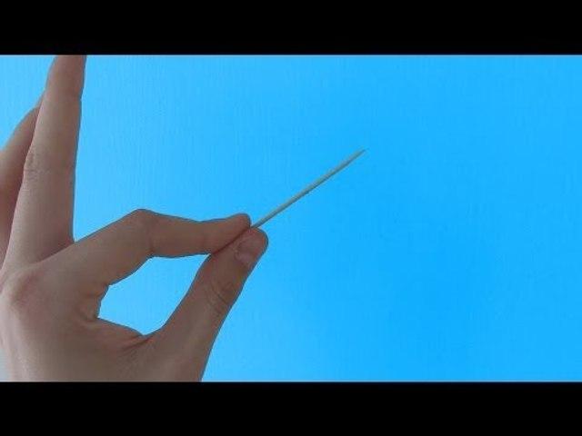 Faire disparaître un cure-dent (tour de magie)