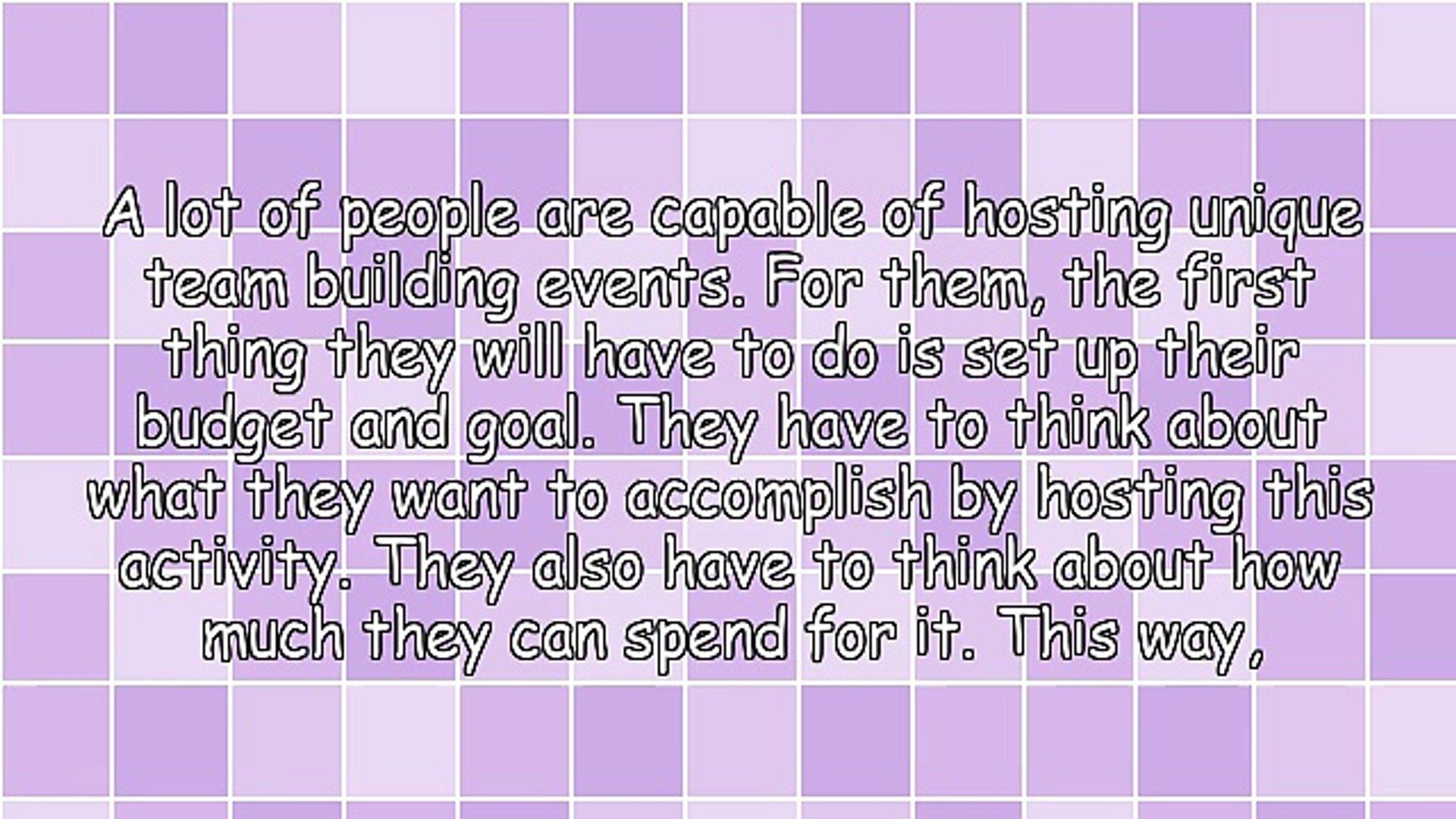 Tips In Hosting Unique Team Building Events