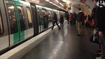Des supporters de Chelsea racistes face à un homme noir dans le métro de Paris