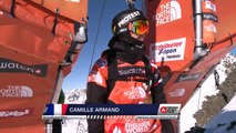 FWT15 - Run of Camille Armand (FRA) Swatch Freeride World Tour 2015 Fieberbrunn By The North Face restaged in Vallnord-Arcalis AND