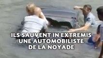 Deux policiers sauvent in extremis une automobiliste de la noyade
