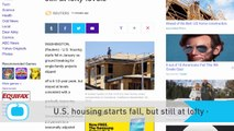 U.S. Housing Starts Fall, but Still at Lofty Levels