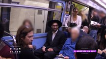 """""""Cam Clash"""" : il agresse un juif dans le métro (caméra cachée)"""