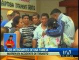 Seis integrantes de una familia mueren en accidente de tránsito en Los Ríos