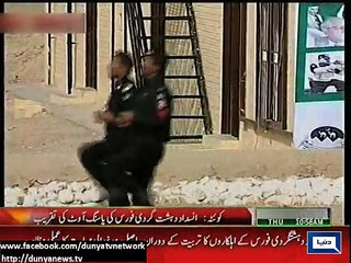 PM Nawaz Sharif and Army Chief inspect passing out parade of counter-terrorism force in Quetta