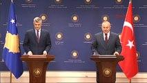 Dışişleri Bakanı Çavuşoğlu ve Kosova Dışişleri Bakanı Taçi Basın Toplantısı 1