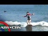 Beach surfing in San Juan, La Union
