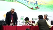 Manshi Asher speaking on definition of rivers at India Rivers Week 2014