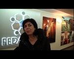 Interviews de Joëlle Milquet et de Julie de Groote lors de leur visite à Fedactio