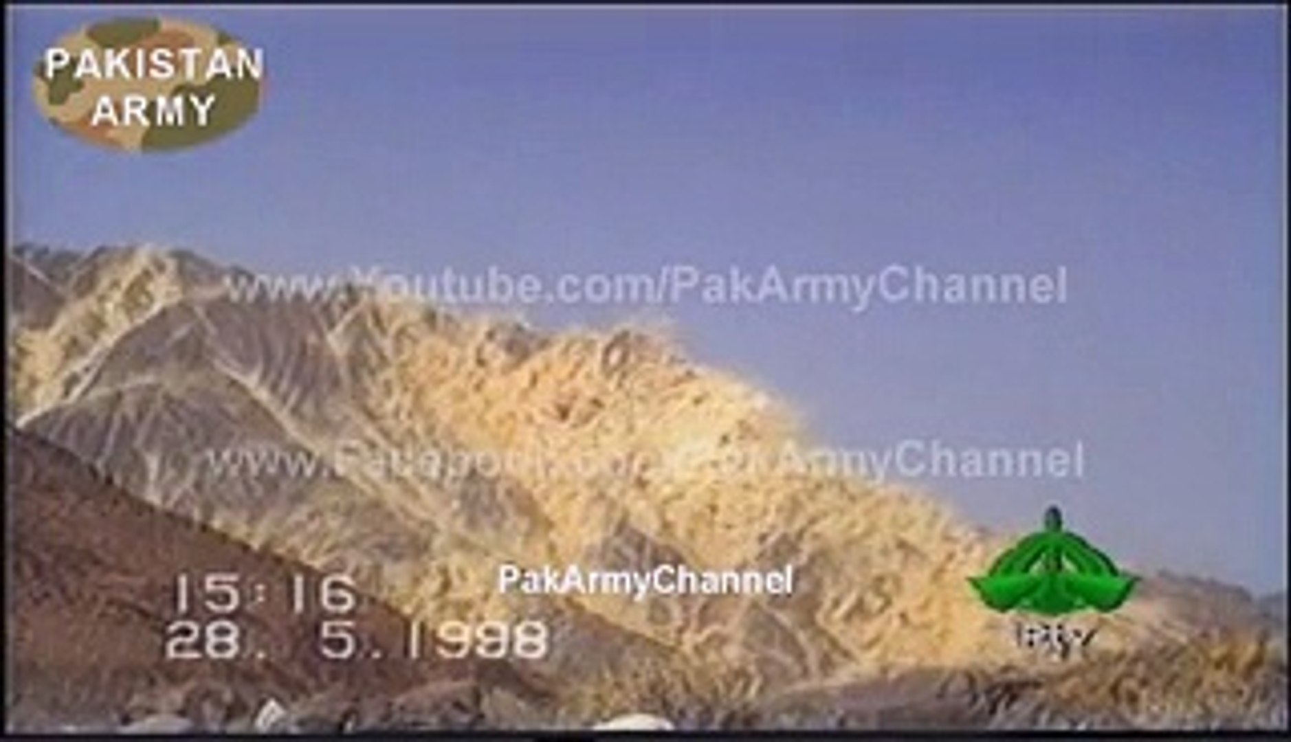 Pakistan's First Nuclear Test - May 28, 1998 (Youm-e-Takbeer) - Video  Dailymotion