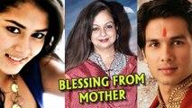 Shahid Kapoor - Mira Rajput Get Blessings From Shahid's Mother Neelima Azeem