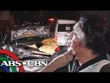 4 hurt as car slams into center island in Pasig