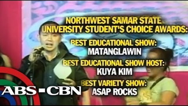 ABS-CBN wins big at NWSSU Student's Choice Awards