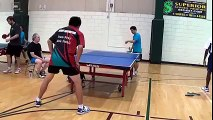 The best ever shot played in the Table tennis