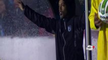 Ronaldinho nervioso vs Pachuca   Queretaro vs Pachuca 2 0 Semifinal Liga MX 24 05 2015 HD