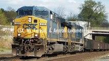 CSX, NS, Conrail, & Amtrak Locomotives Invade Amsterdam, NY
