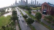 Drone Footage of Houston Flooding - Buffalo Bayou Park