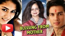 Shahid Kapoor - Mira Rajput Get Blessings From Shahid's Mother Neelima Azeem - The Bollywood