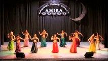 Belly dance to tabla solo - Oriental dance school of Amira Abdi 2013