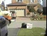 Garbage Man Scare Prank Backfires Video