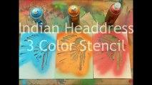 How To: Multi-Layer Stencil Cut & Spray Time Lapse Video - Indian Headdress X-Acto Graffiti Spray