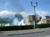 Manif étudiant contre CRS à Grenoble